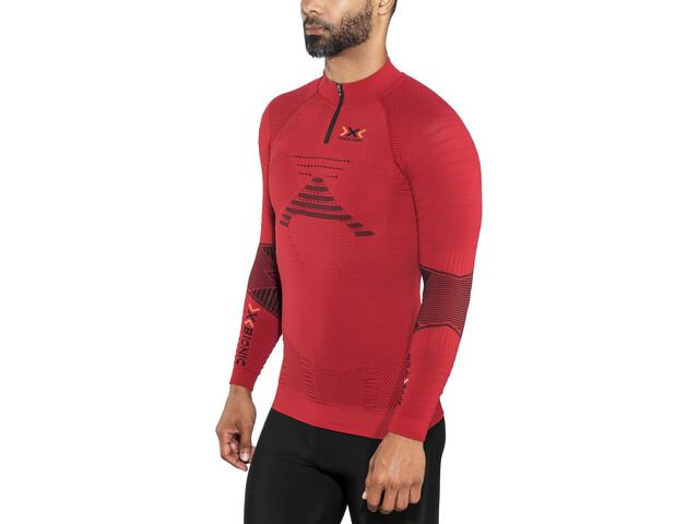X-Bionic Trail Running Effektor OW LS Zip-Up Top Men paprika/black